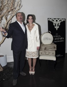 1 - Chairman and CEO of Alcantara Andrea Boragno and Silvia Arguello Attend The World Of Alcantara Featuring Rosa Clandestino