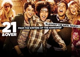 21 & over, movie review: no hangover but certainly a headache