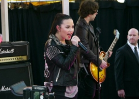 demi lovato, kate bosworth & fifth harmony kick off topshop topman's valentine's day british block party at the grove