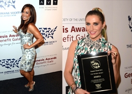 humane society genesis awards: celebrities support animal rights