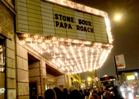 papa roach and stone sour on tour: congress theater, chicago, concert review
