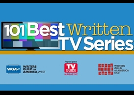 the wgas 101 best written tv series