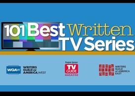 the wgas 101 best written tv series