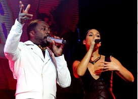 will.i.am and alicia keys grammy's trans4m benefit at avalon