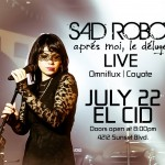 CONTEST: WIN A PAIR OF TICKETS TO SAD ROBOT'S ALBUM RELEASE SHOW AT EL CID