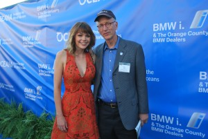 Aimee Teegarden with Oceana CEO Andrew Sharpless.