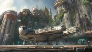 Concept art for Disney's new Star Wars Land.