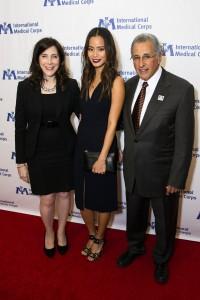 Nancy Aossey, Jamie Chung and Dr. Bob Simon