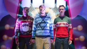 Anthony Mackie, Seth Rogen and Joseph Gordon-Levitt star in The Night Before.