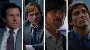 Ryan Gosling, Steve Carell, Brad Pitt and Christian Bale give electrifying performances in The Big Short.