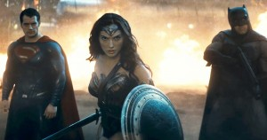 Superman, Wonder Woman and Batman hold a new villain at bay in the full trailer for Batman v. Superman.