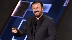 Ricky Gervais kept the audience laughing once again during the awards show.