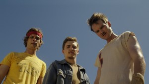 Matthew Grey Gubler, Adam Nee and Kyle Gallner are the Band of Robbers.