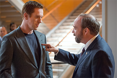 Damian Lewis and Paul Giamatti are rivals in Showtime's Billions.