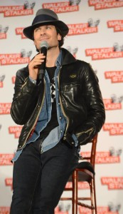 Ian Somerholder talks about The Vampire Diaries during a panel.