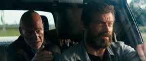 Patrick Stewart and Hugh Jackman hit the road to save the last mutant in Logan. Image via 20th Century Fox.