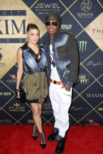 Fergie_ Nick Cannon_MAXIM Super Bowl Party