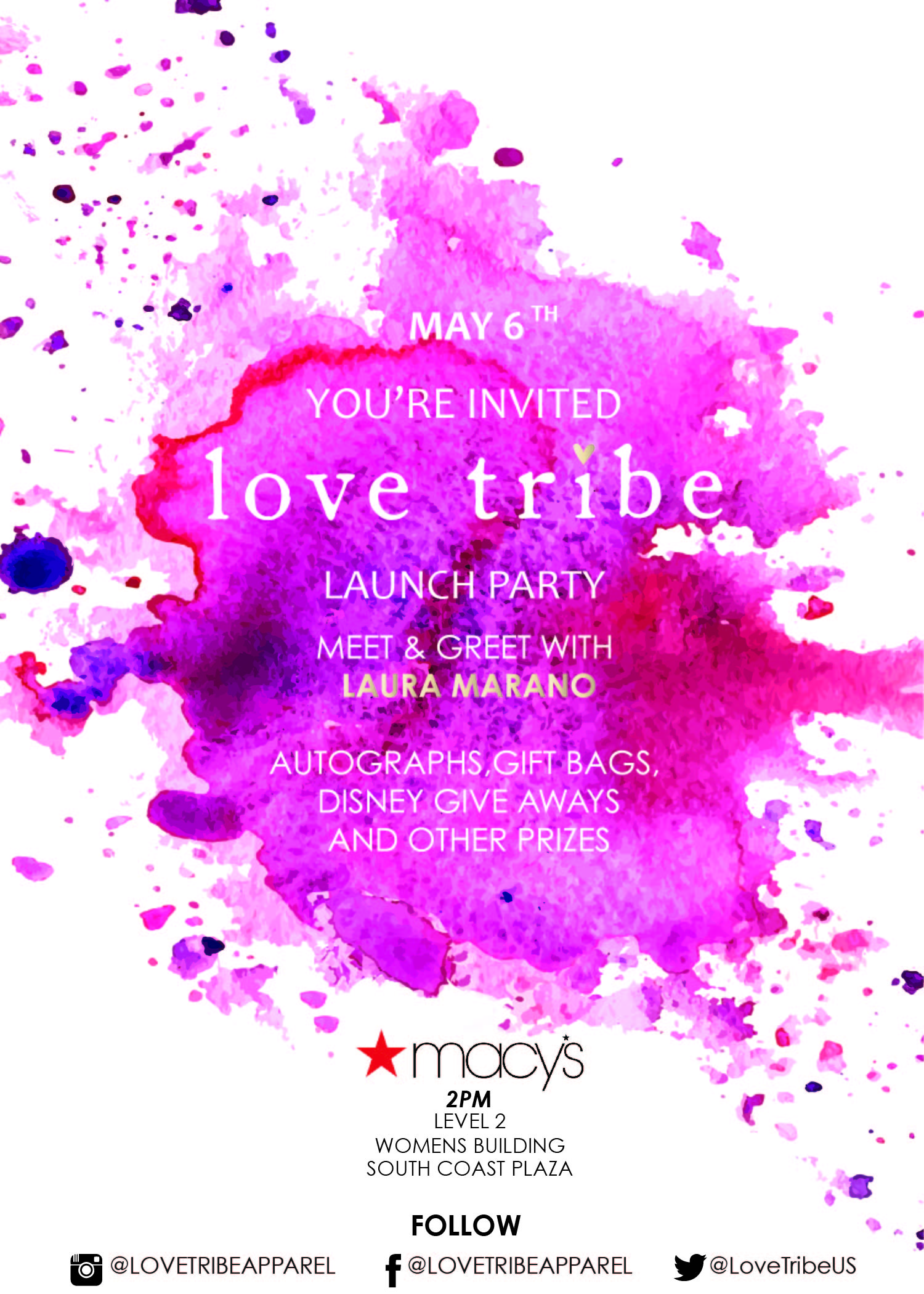 INVITE_Love Tribe_Macy's Launch