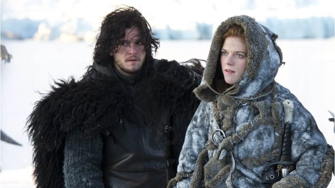 Kit Harington and Rose Leslie_Press Pass LA